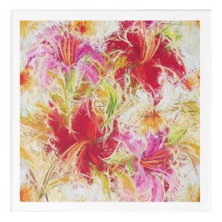 "Lilies Acrylic Wall Art, 12"" x 12"" Acrylic Print"