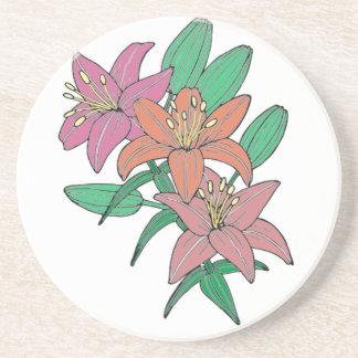Lilies Beverage Coaster