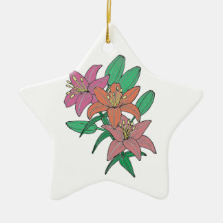 Lilies Ceramic Ornament