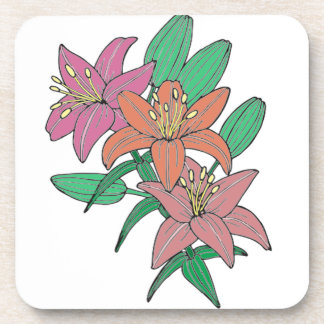 Lilies Drink Coasters