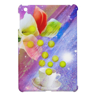 Lilies drop tennis balls to celebrate . cover for the iPad mini