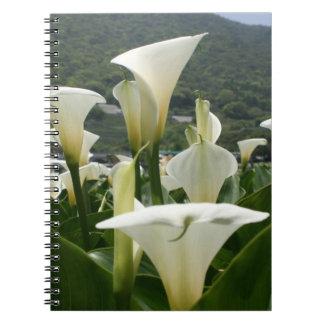 Lilies growing at Calla Lily Plantation, Taiwan Spiral Notebook