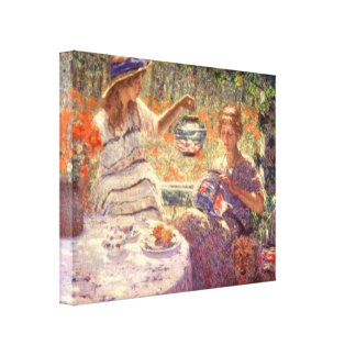 Lilies Lanterns and Sunshine Wrapped Canvas Stretched Canvas Prints