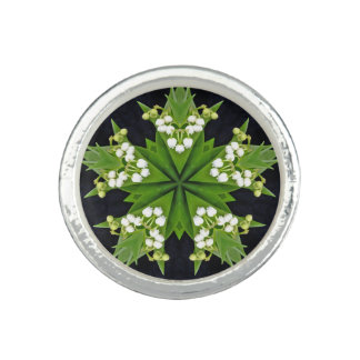 Lilies of the Valley Mandala Ring