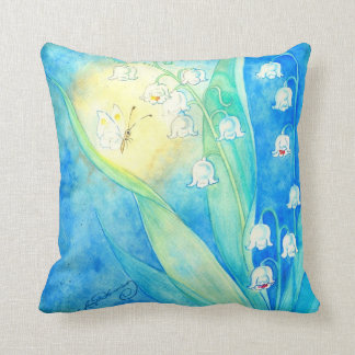 Lilies Of The Valley With Butterfly Throw Pillows