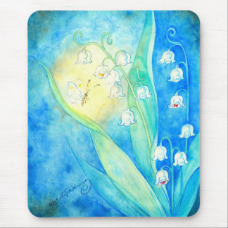 Lilies Of The Valley With Butterfly Mouse Pad