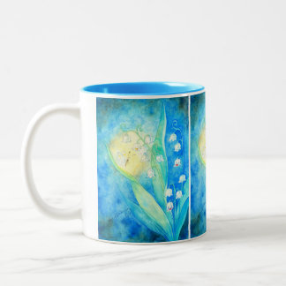 Lilies Of The Valley With Butterfly Coffee Mug
