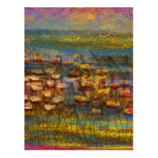 Lilies on the Water design by Carole Tomlinson Postcards