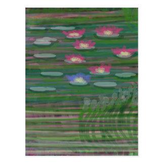 Lilies on Water Postcard