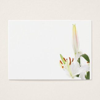 Lilies on white business card