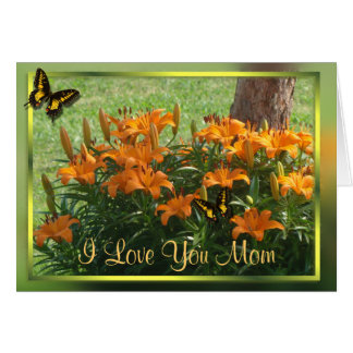 Lilies under the Redbud- customize any occasion Card