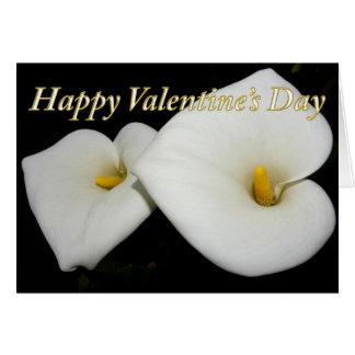 lilies valentine, blank inside greeting card