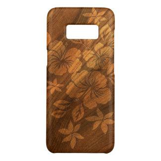 Lilikoi Hibiscus Hawaiian Faux Burl Wood Case-Mate Samsung Galaxy S8 Case