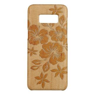 Lilikoi Hibiscus Hawaiian Faux Wood Case-Mate Samsung Galaxy S8 Case