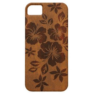 Lilikoi Hibiscus Hawaiian Faux Wood iPhone 5 Cases