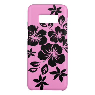 Lilikoi Hibiscus Hawaiian Floral  Pink and Black Case-Mate Samsung Galaxy S8 Case