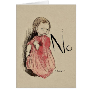 Lillan says No Ivar Arosenius CC0993 Card