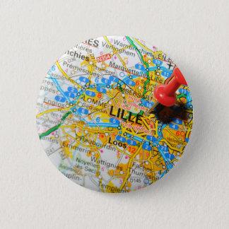 Lille, France 6 Cm Round Badge
