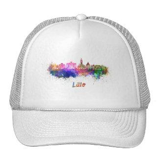 Lille skyline in watercolor cap