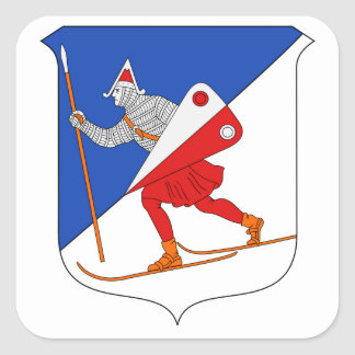 Lillehammer Coat of Arms Square Sticker