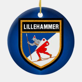 Lillehammer Flag Ceramic Ornament