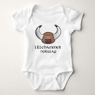 Lillehammer Norway Viking Hat Baby Bodysuit