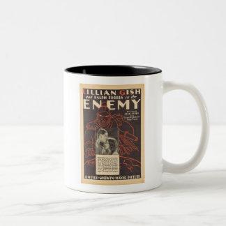 Lillian Gish The Enemy movie ad Two-Tone Coffee Mug
