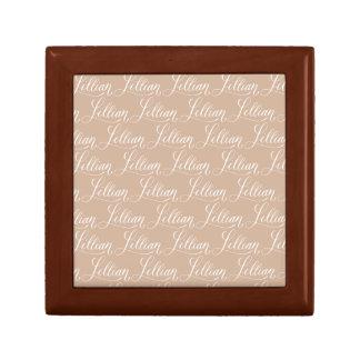 Lillian - Modern Calligraphy Name Design Small Square Gift Box