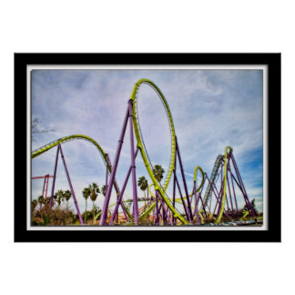 Lillian Photography HDR Roller Coaster Poster