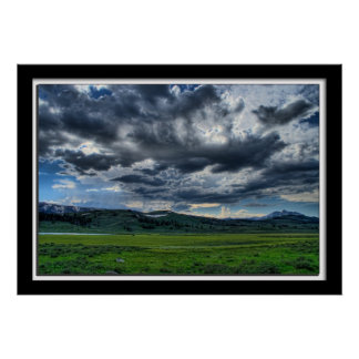 Lillian Photography HDR Yellowstone Meadow Poster
