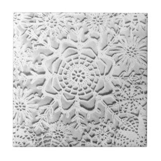 Lillian's Antique Crochet Snowflakes Tile