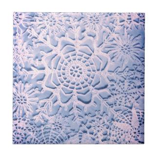 Lillian's Baby Blue Snowflake Sangria Tile