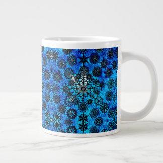 Lillian's Baby Blue Snowflakes Porcelain Cup