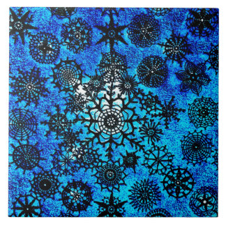 Lillian's Baby Blue Snowflakes Tile