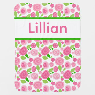 Lillian's Personalized Rose Blanket