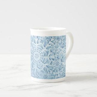 Lillien's Blue Snowflake Porcelain Cup
