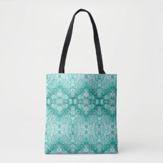 Lillien's Green Snowflake Tote Bag