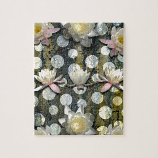 LILLIES AND POLKA DOTS JIGSAW PUZZLE