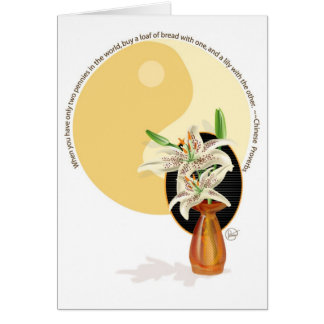 lillies card
