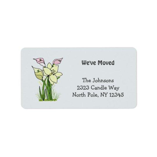 Lillies New Address Label