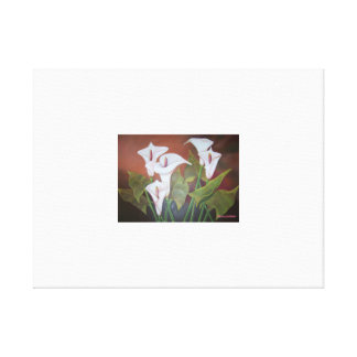 Lillies Stretched Canvas Print