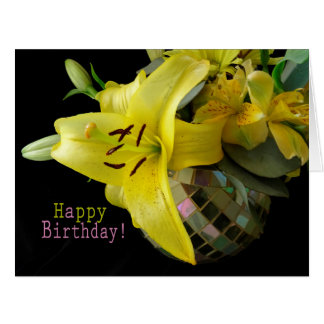 Lilly Bouquet Birthday Card