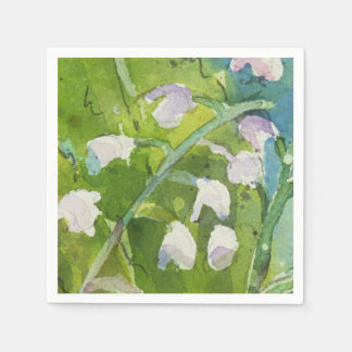 Lilly of the Valley cocktail napkins Paper Napkin