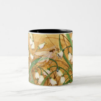 Lilly of the Valley Two-Tone Coffee Mug