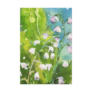 Lilly of the Valley watercolor print