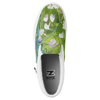 Lilly of the valley watercolor slip on shoes