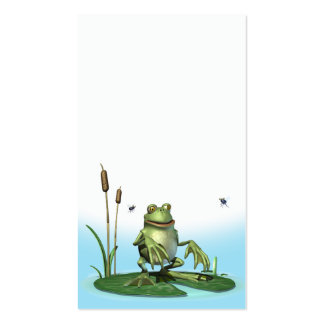 Lilly-pad Frog Pack Of Standard Business Cards