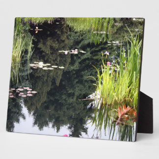Lilly Pad Reflection Pond Japanese Display Plaque