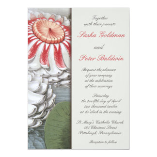 Lilly Pads Floral Wedding Invitation
