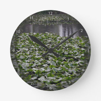 Lilly pads on a pond wallclock